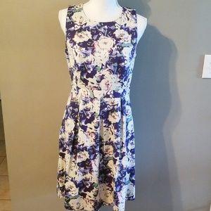 LOFT-floral midi dress